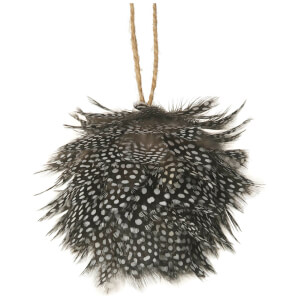 Parlane Feather Hanging Decoration (10 x 10cm) - Black