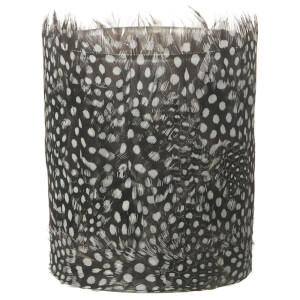 Parlane Feather Tea Light Holder (10 x 8cm) - Black