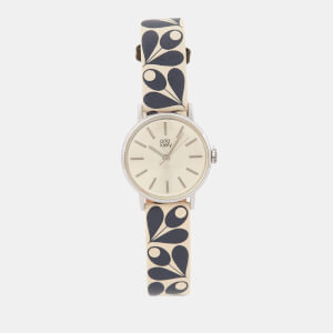 Orla Kiely Women's Patricia Print Leather Watch - Navy