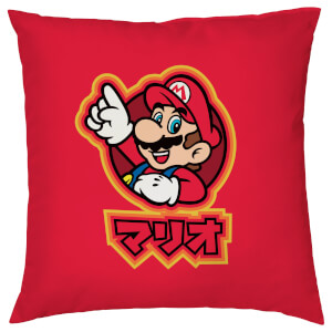 Nintendo Super Mario Mario Kanji Cushion - Textured Linen