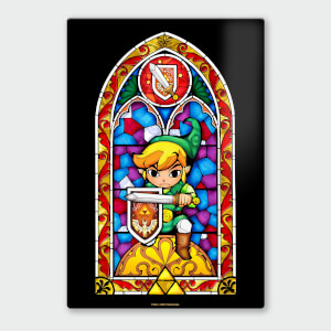 Nintendo Legend of Zelda Shield Chromalux High Gloss Metal Poster