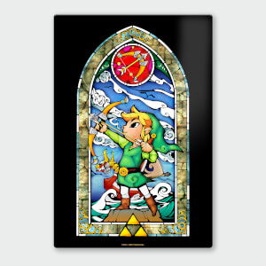 "Póster Chromaluxe Metal Brillante Nintendo ""The Legend of Zelda Arco y Flecha"""