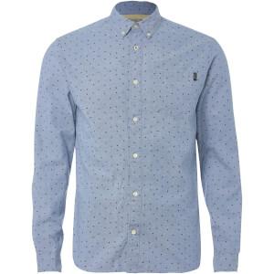 Jack & Jones Originals Men's Mutough Printed Long Sleeve Shirt - Cashmere Blue