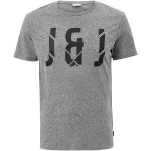 T-Shirt Homme Core Pixel Jack & Jones - Gris Clair Chiné