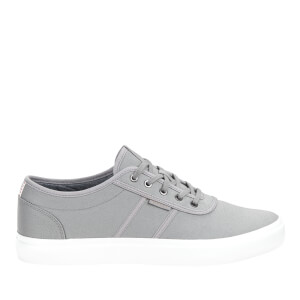 Jack & Jones Men's Austin Canvas Trainers - Frost Grey