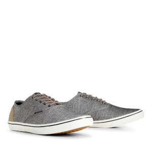 Jack & Jones Men's Heath Chambray Trainers - Anthracite