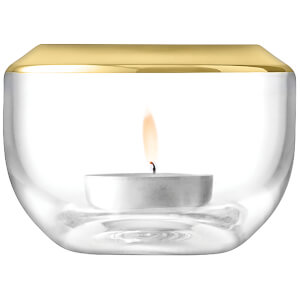 LSA Space Tealight Holder - 6.5cm - Gold