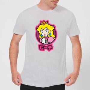T-Shirt Homme Kanji Peach Nintendo - Gris