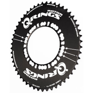 Rotor Q Aero Outer Chainring - Black