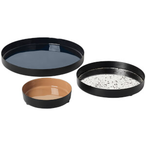 Broste Copenhagen Esben Round Trays - Multi (Set of 3)
