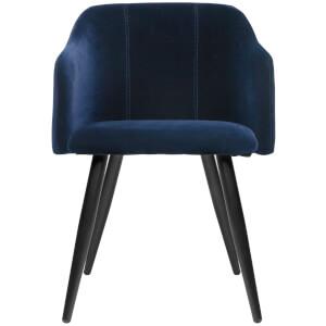 Broste Copenhagen Velvet Pernille Chair - Insignia Blue