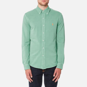 Polo Ralph Lauren Men's Featherweight Mesh Long Sleeve Shirt - Dusted Ivy