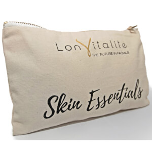 Lonvitalite Canvas Skin Essentials Cosmetic Bag