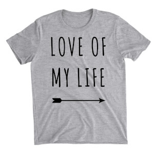 Love Of My Life Grey T-Shirt