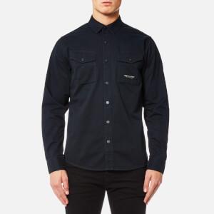 Marshall Artist Men's Dual Pocket Military Shirt - Navy