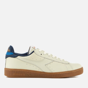 Diadora Men's Game L Low Leather Cupsole Trainers - White/Saltire Navy