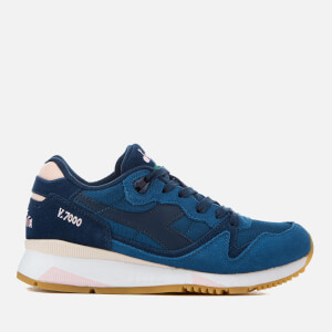 Diadora Women's V7000 NYL II Trainers - Estate Blue/Dark Blue/Cradle Pink