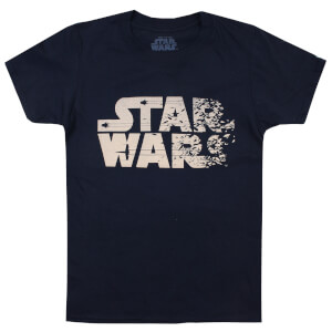 T-Shirt Enfant Star Wars Texte Rebelle Les Derniers Jedi - Bleu Marine