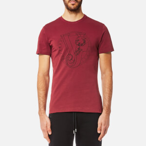 Versace Jeans Men's Circle Logo T-Shirt - Rhododendron