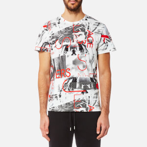 Versace Jeans Men's All Over Print T-Shirt - Bianco