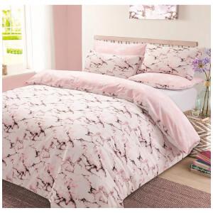 Dreamscene Marble Duvet Set - Pink