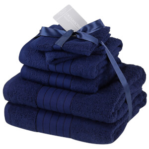 Highams 100% Cotton 6 Piece Towel Bale (500GSM) - Navy