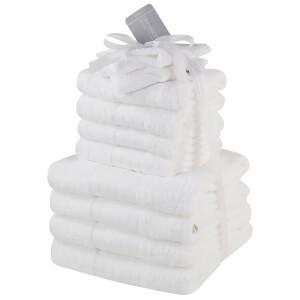 Highams 100% Cotton 12 Piece Towel Bale (500GSM) - White