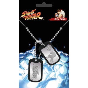 Street Fighter Fight Dog Tag Pendant