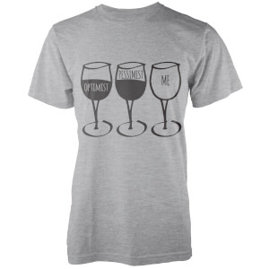 Optimist, Pessimist, Me T-Shirt - Grey