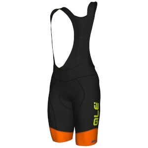 Alé R-EV1 Rumbles Winter Bib Shorts - Black/Orange