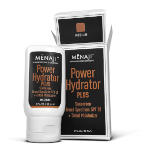 Menaji Power Hydrator PLUS Broad Spectrum Sunscreen SPF30+ Tinted Moisturizer - Medium 2oz