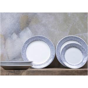 Nkuku Indigo Drop Dinner Plate - Cream and Indigo: Image 3
