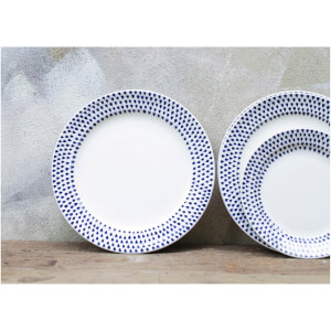 Nkuku Indigo Drop Dinner Plate - Cream and Indigo: Image 2