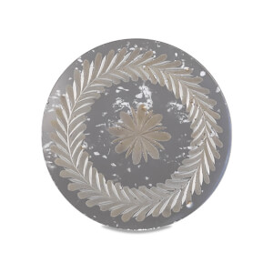 Nkuku Avani Etched Placemat - Antique Silver - Flower