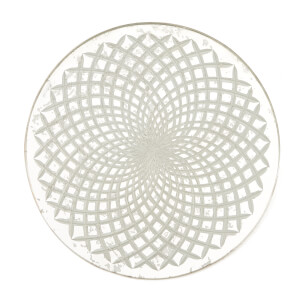 Nkuku Avani Etched Placemat - Antique Silver - Spiral: Image 1