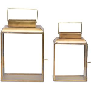 Nkuku Obi Lantern - Antique Brass