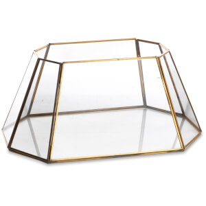 Nkuku Morvi Lantern - Antique Brass - 18 x 38 x 26cm