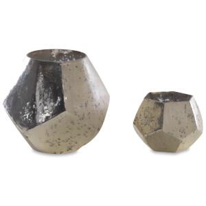 Nkuku Mirembe Hexagon T-Light - Antique Silver