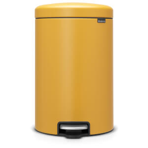 Brabantia New Icon 20 Litre Pedal Bin - Mineral Mustard Yellow