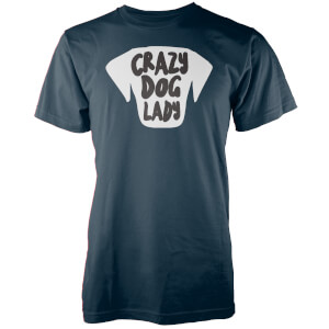 Crazy Dog Lady Navy T-Shirt