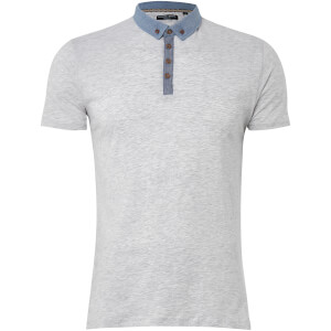 Brave Soul Men's Chimera Polo Shirt - Ecru Marl