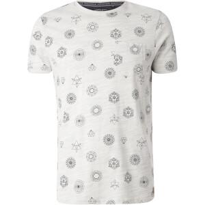 Brave Soul Men's Portal Print T-Shirt - Ecru