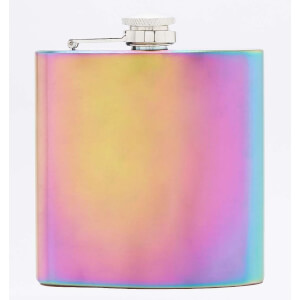 Rainbow Plate Hip Flask