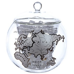 Globe Ice Bucket with Silver Map