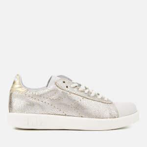 Diadora Heritage Women's Game H W Silver Suede/Cracked Leather Trainers - Silver