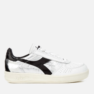 Diadora Heritage Women's B.Elite Silver Grain Leather Trainers - White/Black