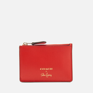 Coach Women's Mini ID Skinny Wallet - Selena Red