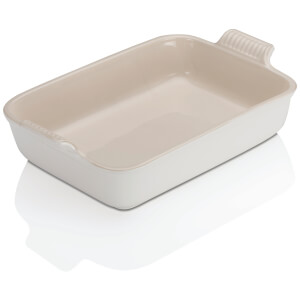 Le Creuset Stoneware Deep Rectangular Dish - 32cm - Cotton