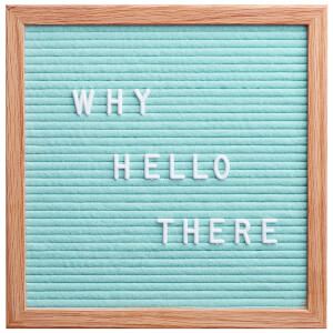 Square Premium Felt Letter Board - Mint Green