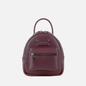 Grafea Women's Mini Zippy Backpack - Burgundy